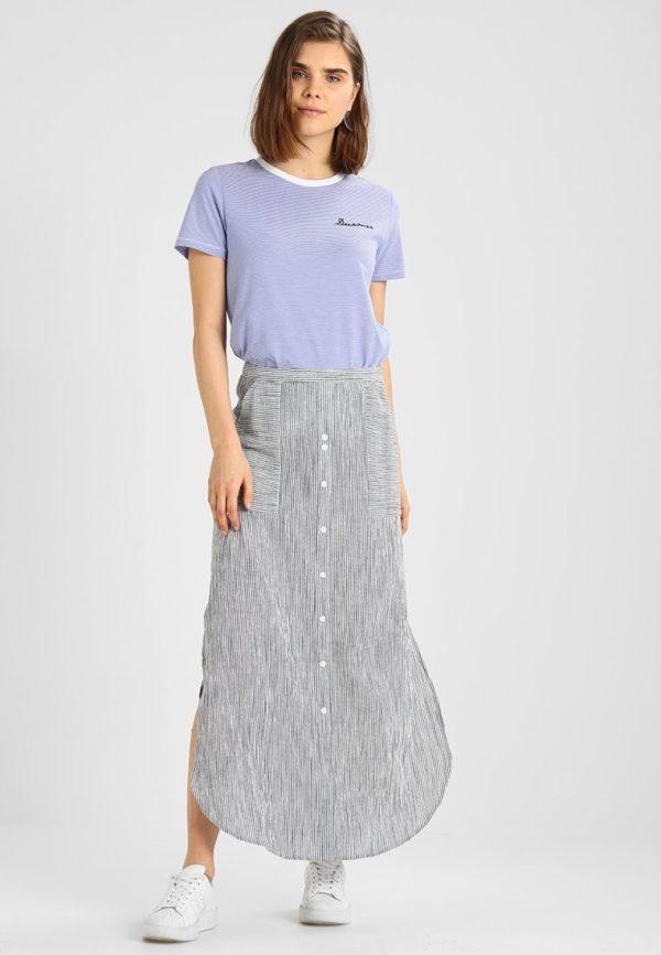 Летняя серая юбка макси