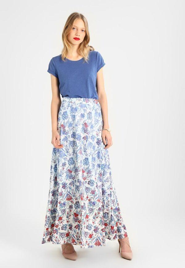 Летняя цветастая юбка макси