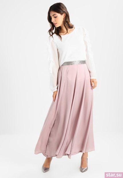Летняя розовая юбка макси 2018 года