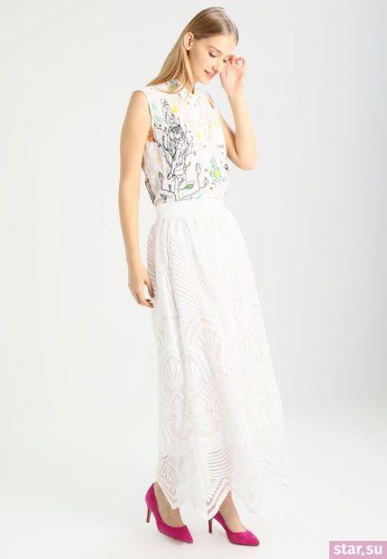 Летняя белая юбка макси 2018 года