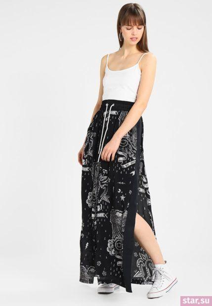 Летняя черная юбка макси 2018 года