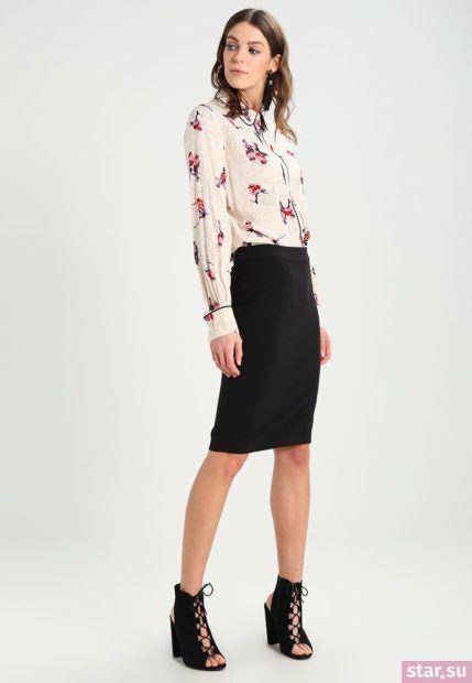 Летняя черная юбка карандаш 2018 года