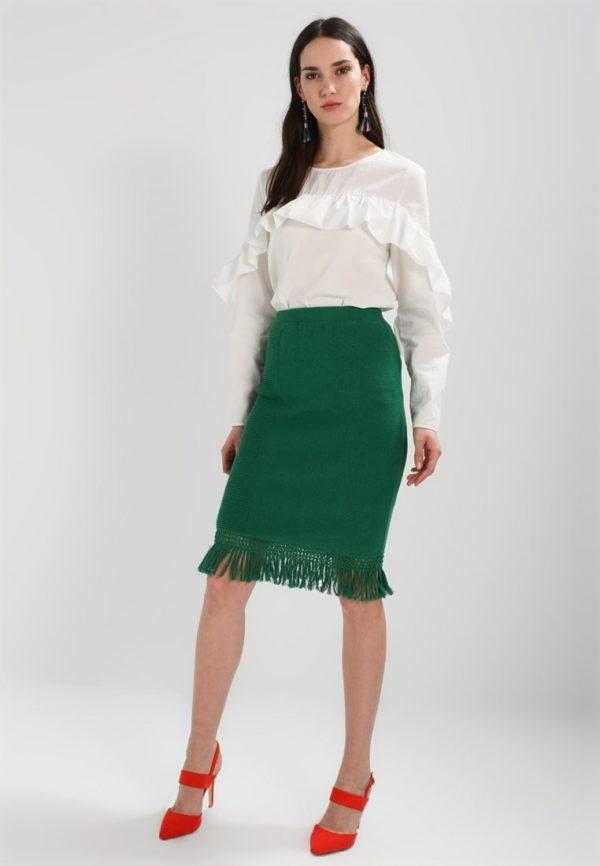Летняя зеленая юбка карандаш