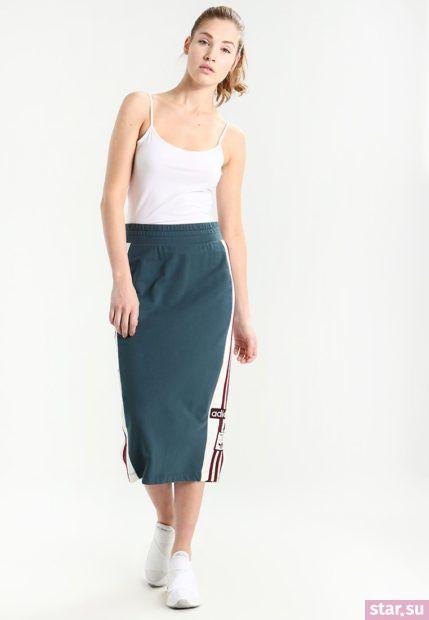 Летняя зеленая юбка карандаш 2018 года