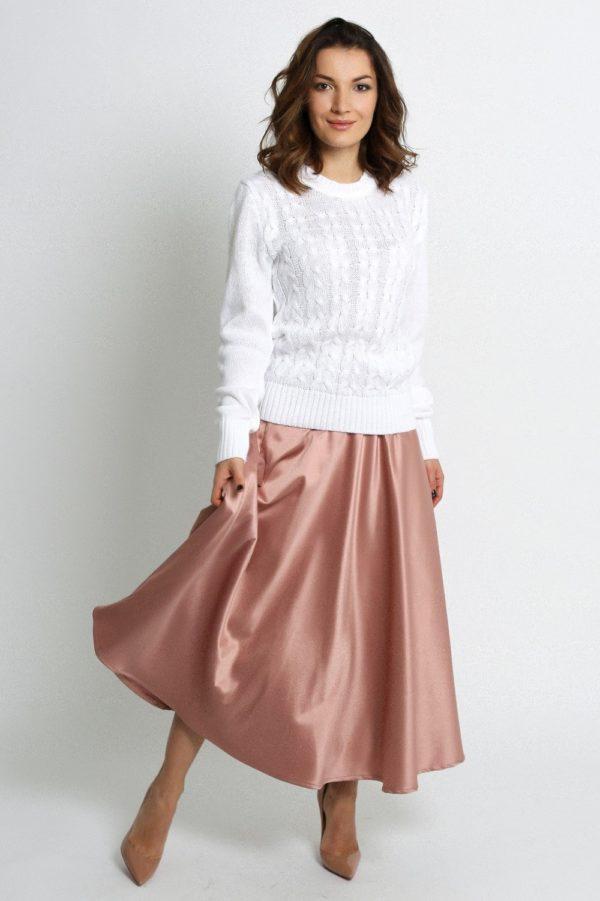 Летняя розовая пышная юбки