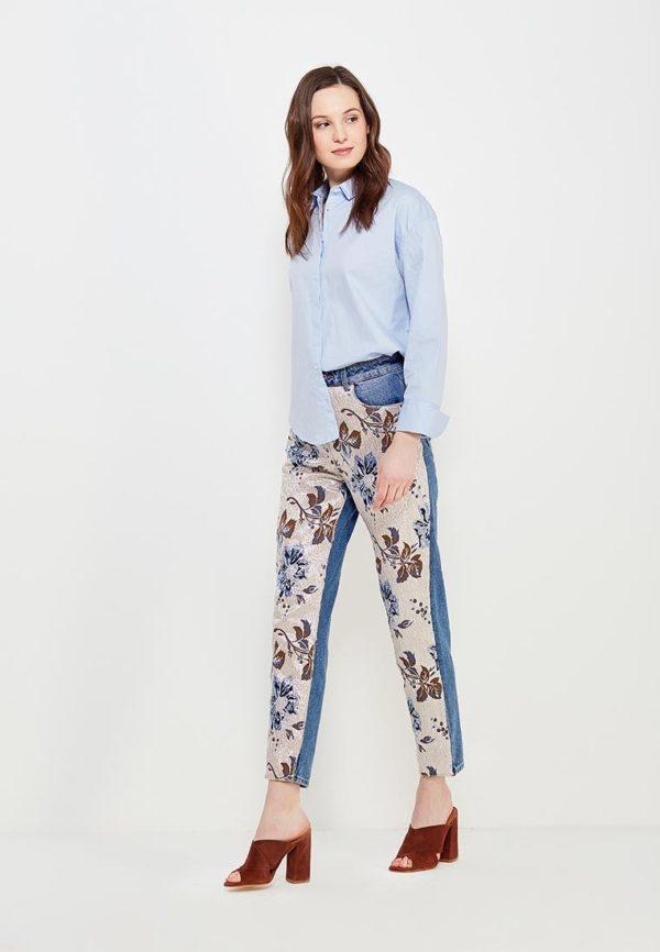 Мода весна лето 2019 для женщин за 30: голубая рубашка