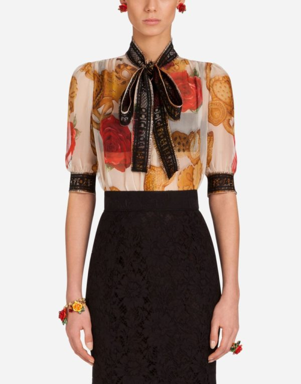 блузка укороченный рукав