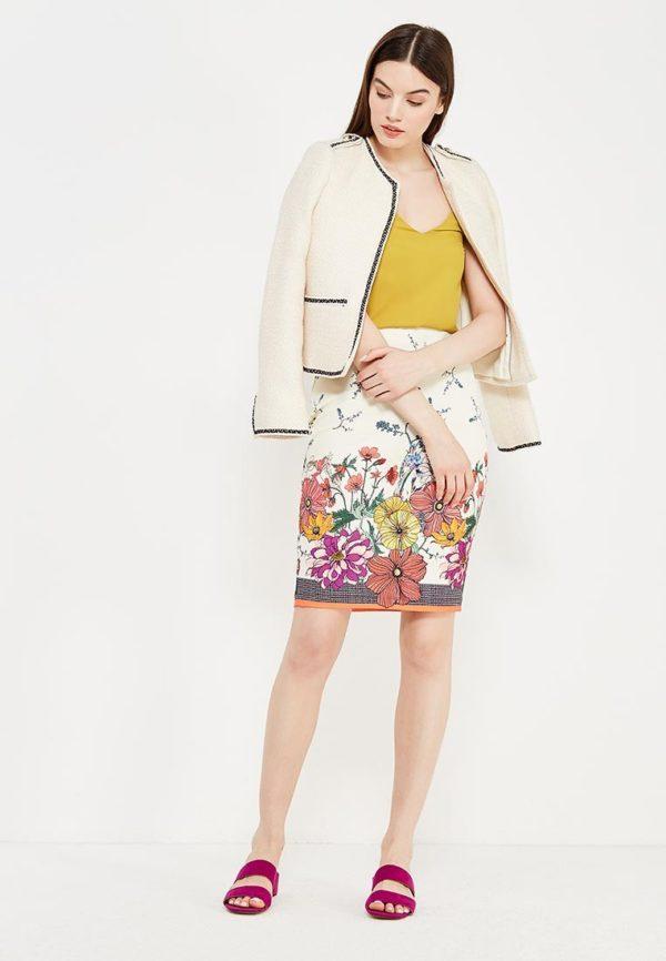 юбка с принтом под куртку