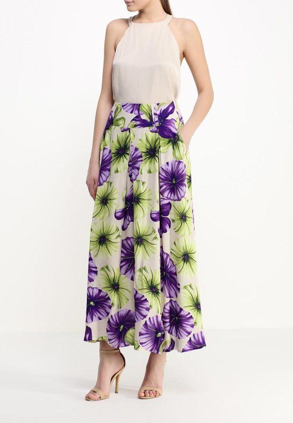 цветная юбка длинная под блузку