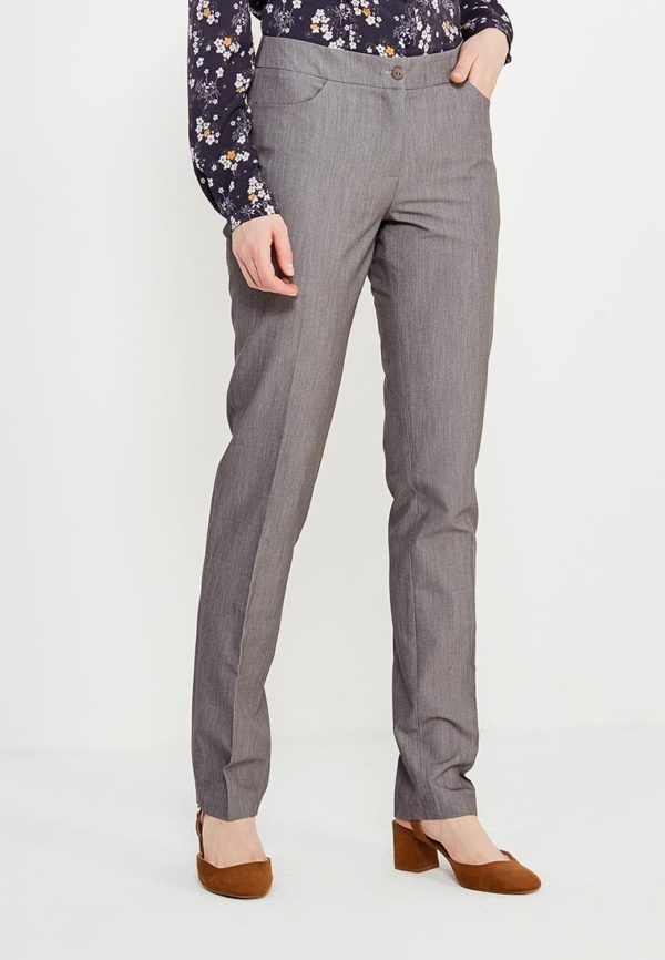 серые брюки деловые