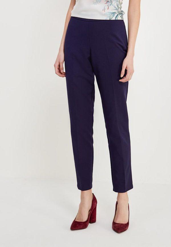 темно-синие брюки узкие