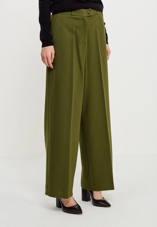 зеленые брюки прямые