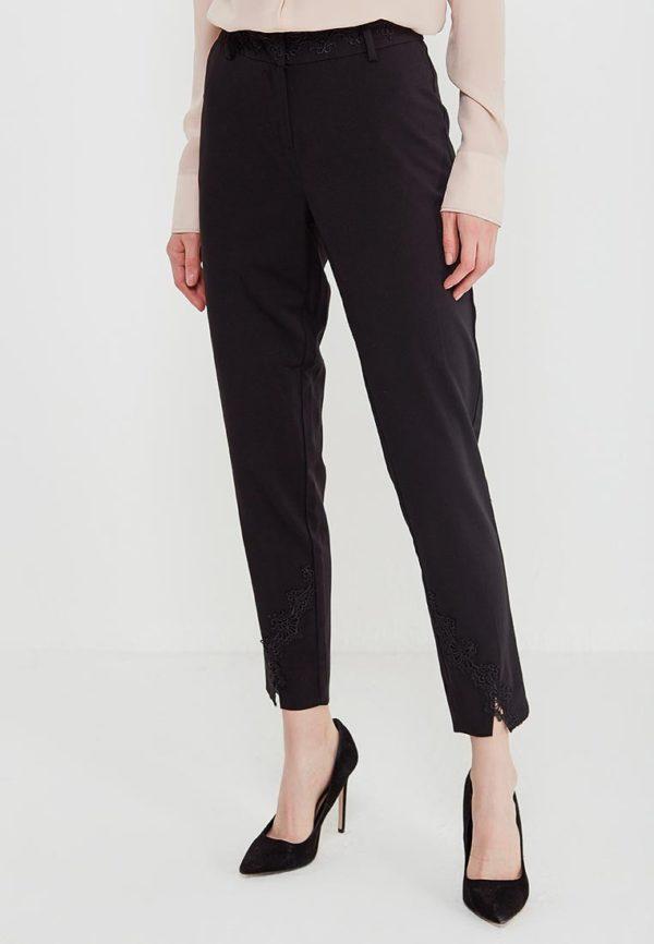 черные штаны с разрезом