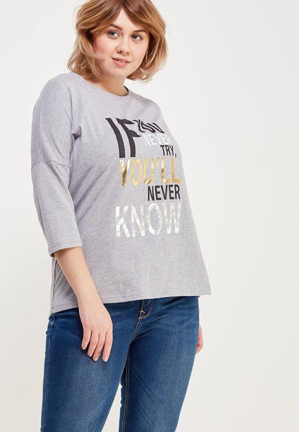 светло-серая футболка с надписью