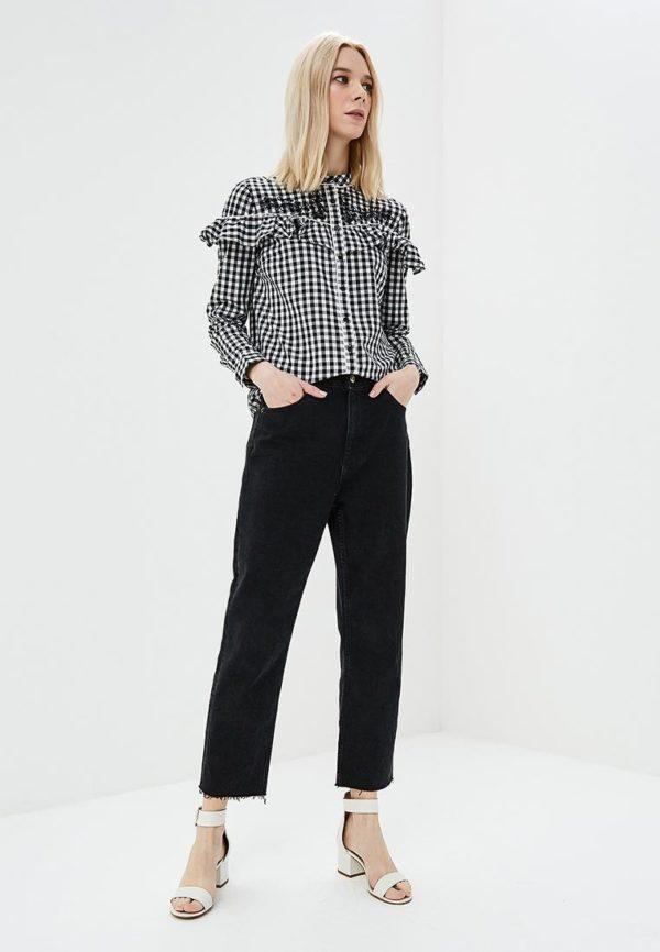 Мода весна лето 2020 для женщин за 30: блузка клетка