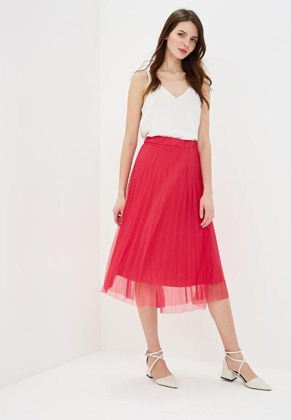 белый топ юбка плиссе