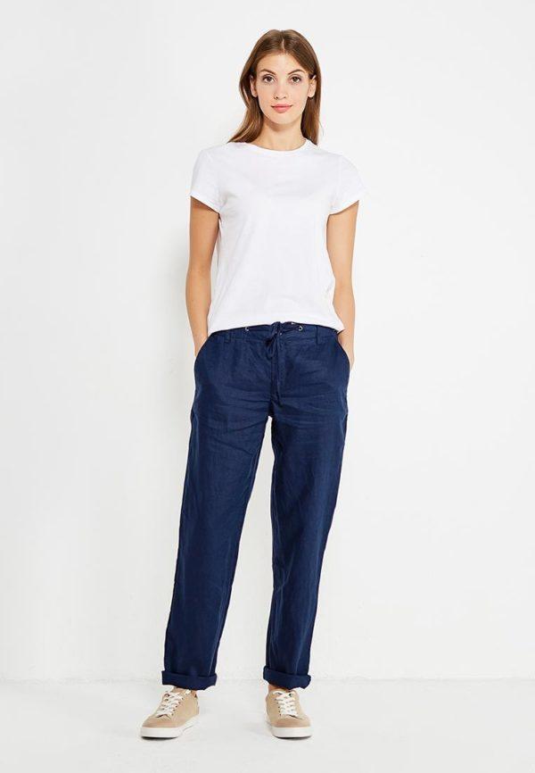 синие штаны белый верх