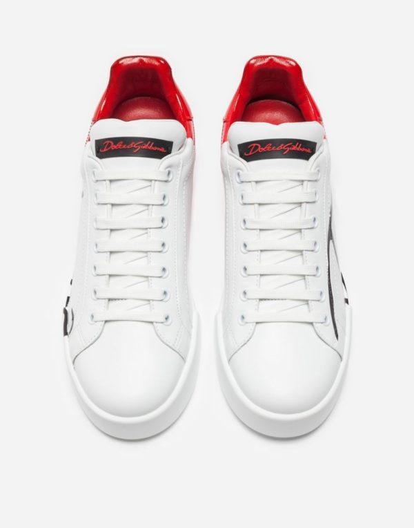 женская обувь весна лето 2019: Белые с красным кеды