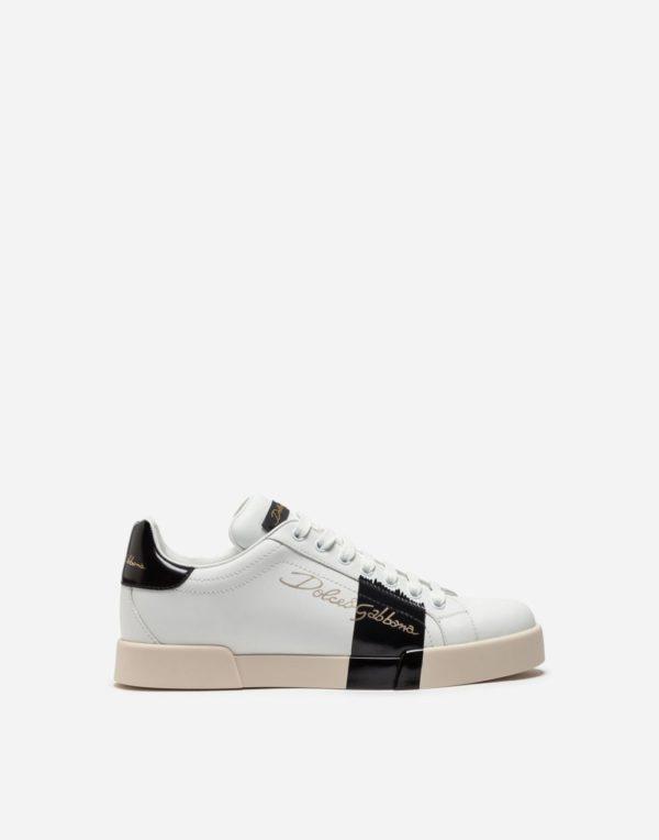 женская обувь весна лето 2019: Белые с черным кеды