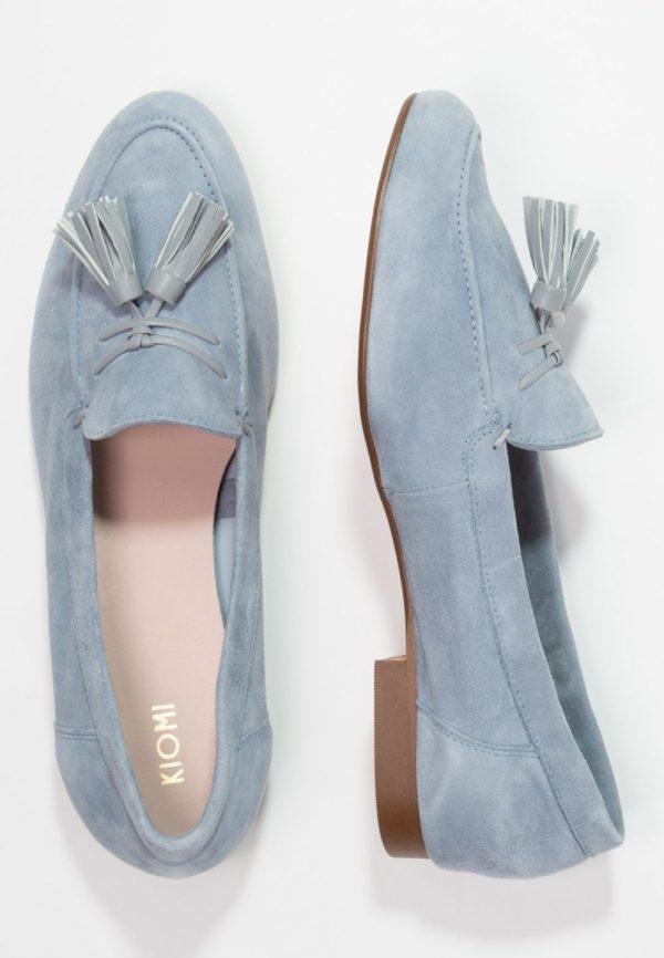 женская обувь весна лето 2019: Голубые лоферы