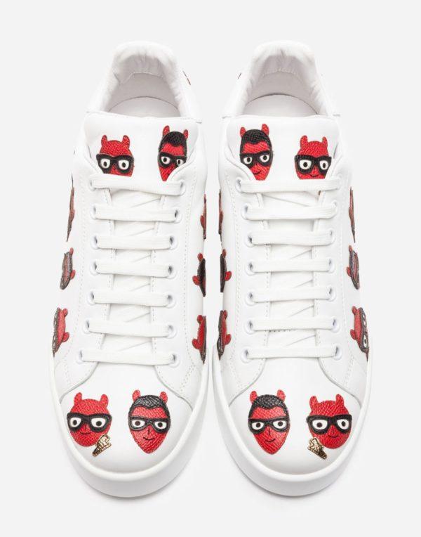 женская обувь весна лето 2019: Белые с рисунком кеды