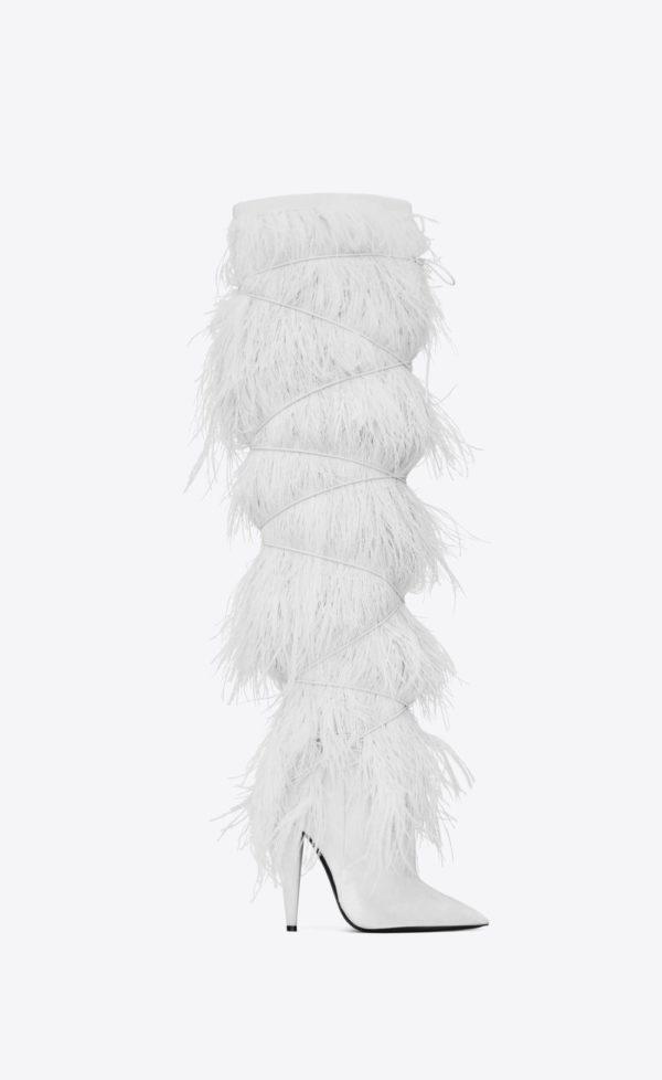 женская обувь весна лето 2019: Белые ботфорты