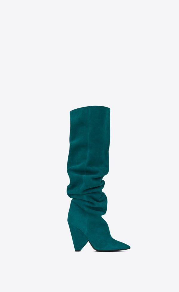 женская обувь весна лето 2020: Зеленые ботфорты