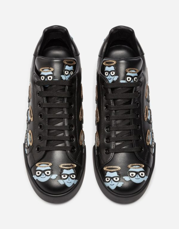 женская обувь весна лето 2020: Черные с рисунком кеды