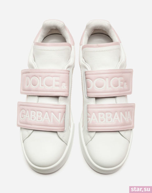 Белые с розовым кеды весна лето 2018