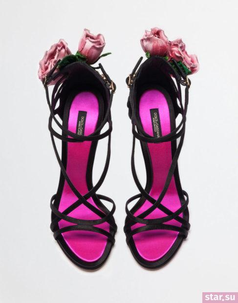 черные с розовым босоножки весна лето 2018