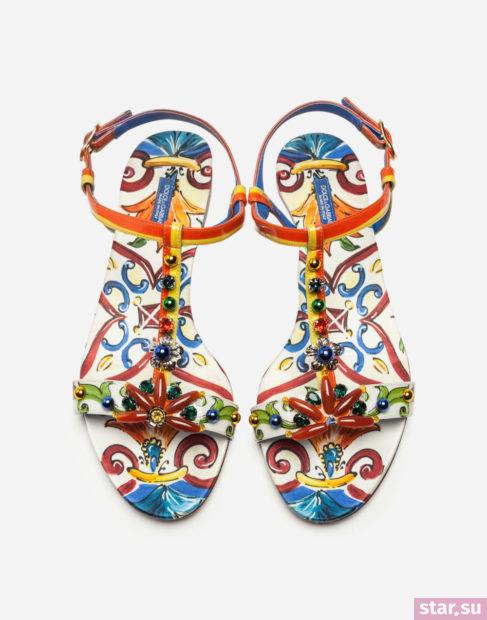 цветные сандалии весна лето 2018