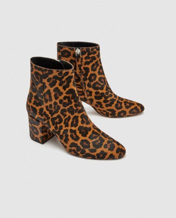 женские ботинки осень-зима 2019-2020: леопардовые