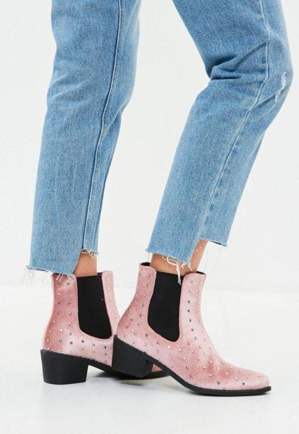 розовые на толстом каблуке