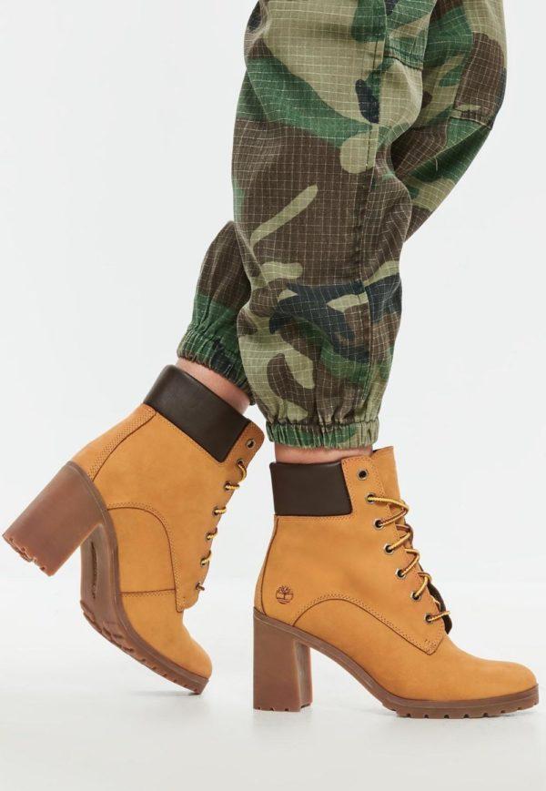 желтые на толстом каблуке