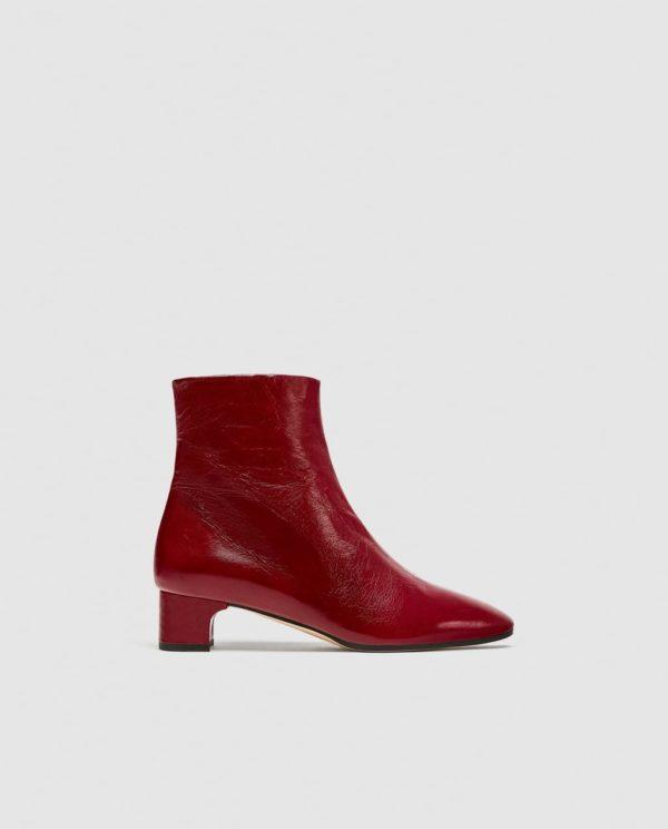 красные на толстом каблуке