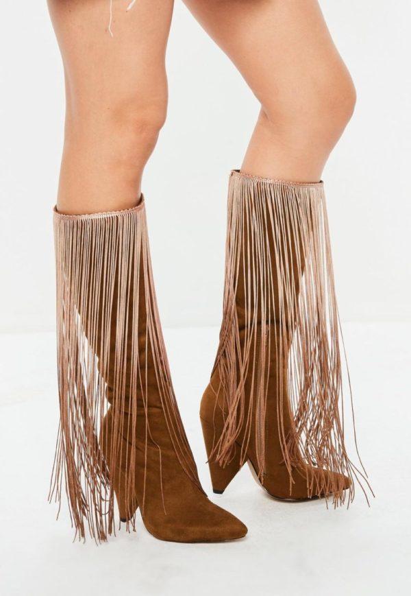 ботинки осень-зима 2019-2020: коричневые