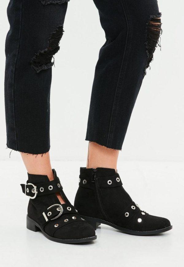 ботинки осень-зима 2019-2020: черные