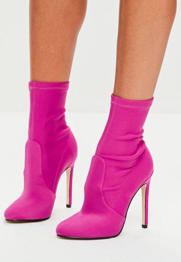 ботинки осень-зима 2019-2020: розовые
