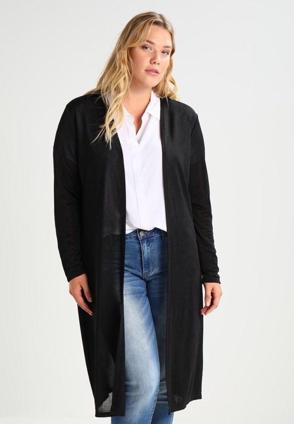 Модный кардиганы: Женский черный для полных