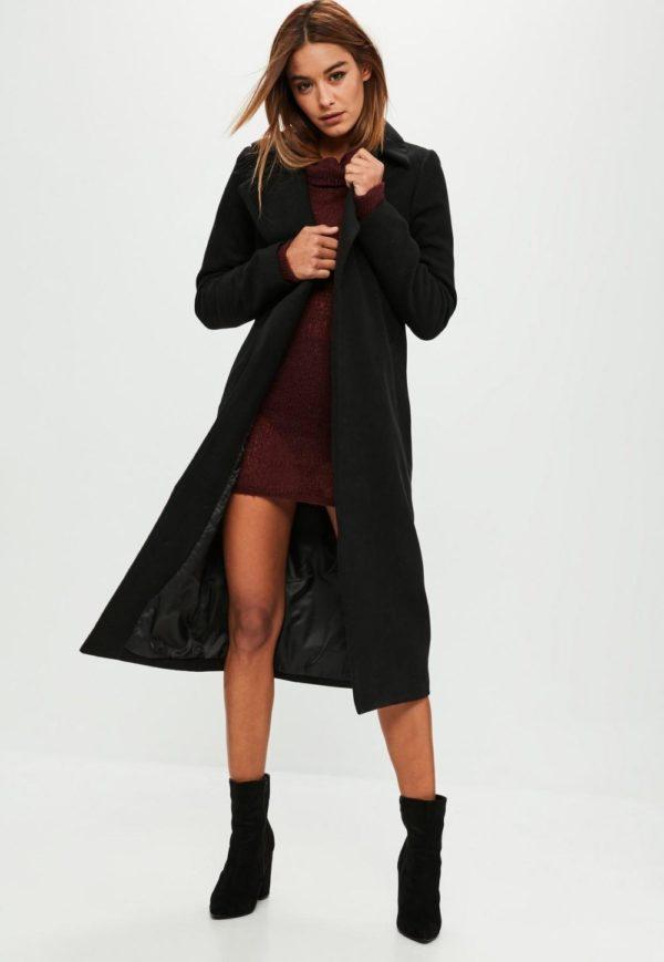 Женские кардиганы: черный пальто