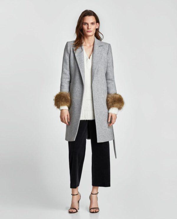 Женские кардиганы: серый пальто