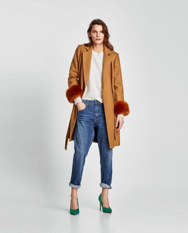 Модный кардиганы: Женский коричневый пальто