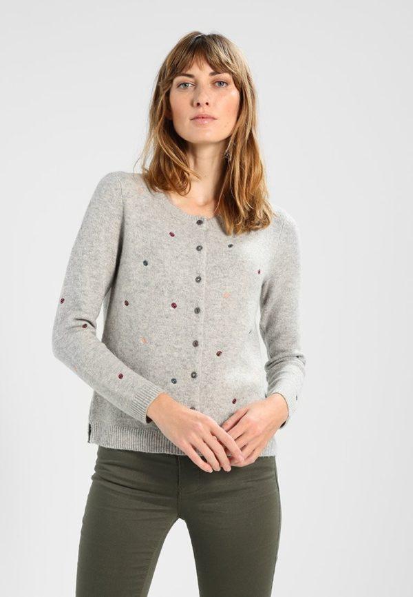 Модный кардиганы: серый свитер
