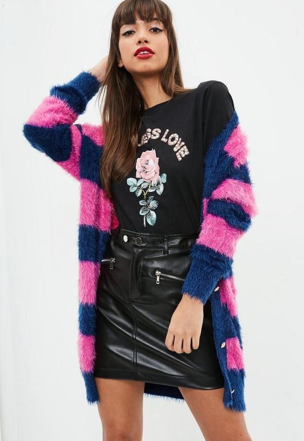 Модный кардиганы: Молодежный цветной