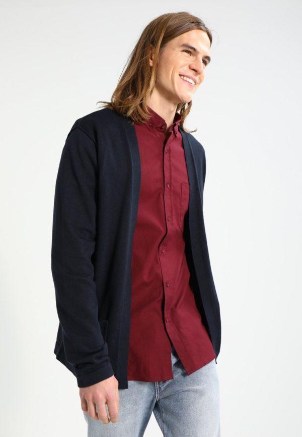 Модный кардиганы: синий мужской