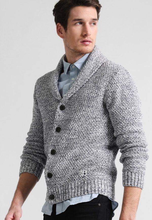 Модный кардиганы: серый мужской