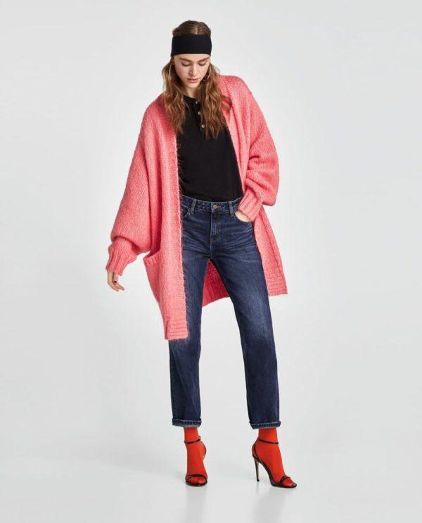 розовый женский кардиган 2018-2019 года