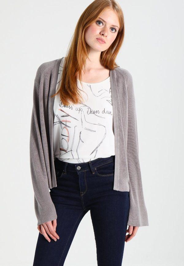 Женские кардиганы: серый на лето