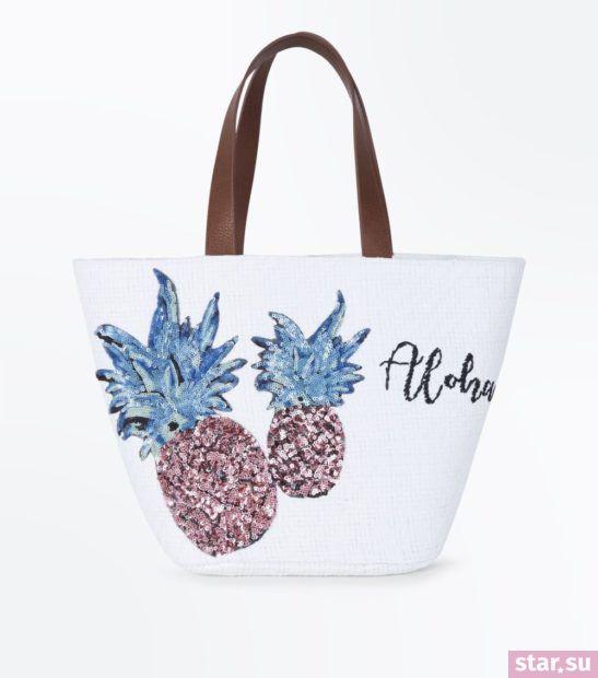белая с ананасами сумка весна лето 2018