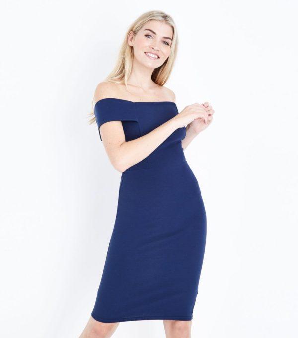 Модные тенденции весна лето: синее платье